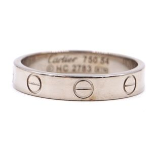 18k 750 Love Band Size 54 3.5mm Wide - 6.75 Ring